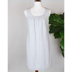 J. Crew | Sleeveless Navy Stripe Dress